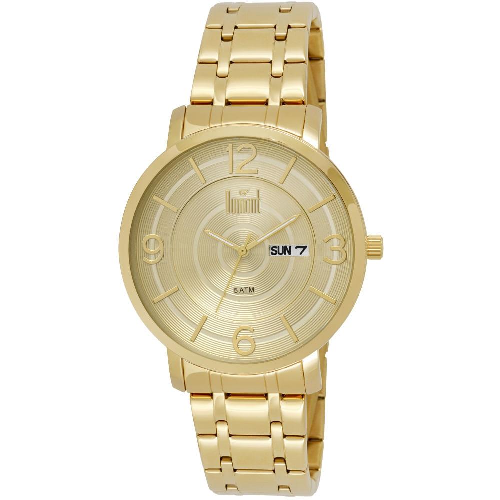 44f0472225a23 Relógio Dumont Masculino Slim Dourado DU2305AA 4C - fluiartejoias