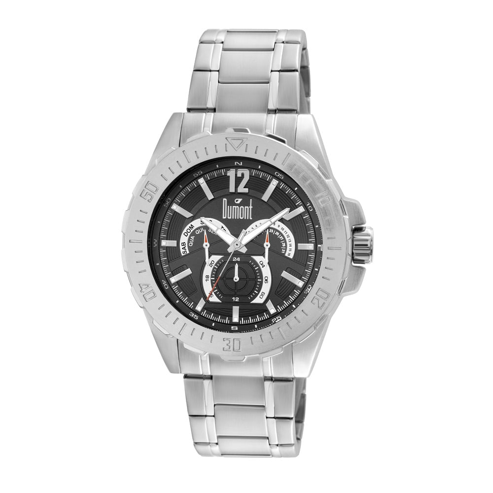 066f48af69c40 Relógio Dumont Masculino Prata Garbo DU6P29ABS 3C - fluiartejoias