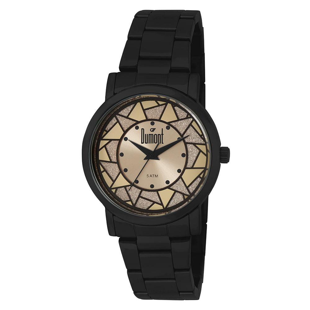 f18a584cbc050 Relógio Dumont Feminino Elements DU2036LTP 4P Preto   - fluiartejoias