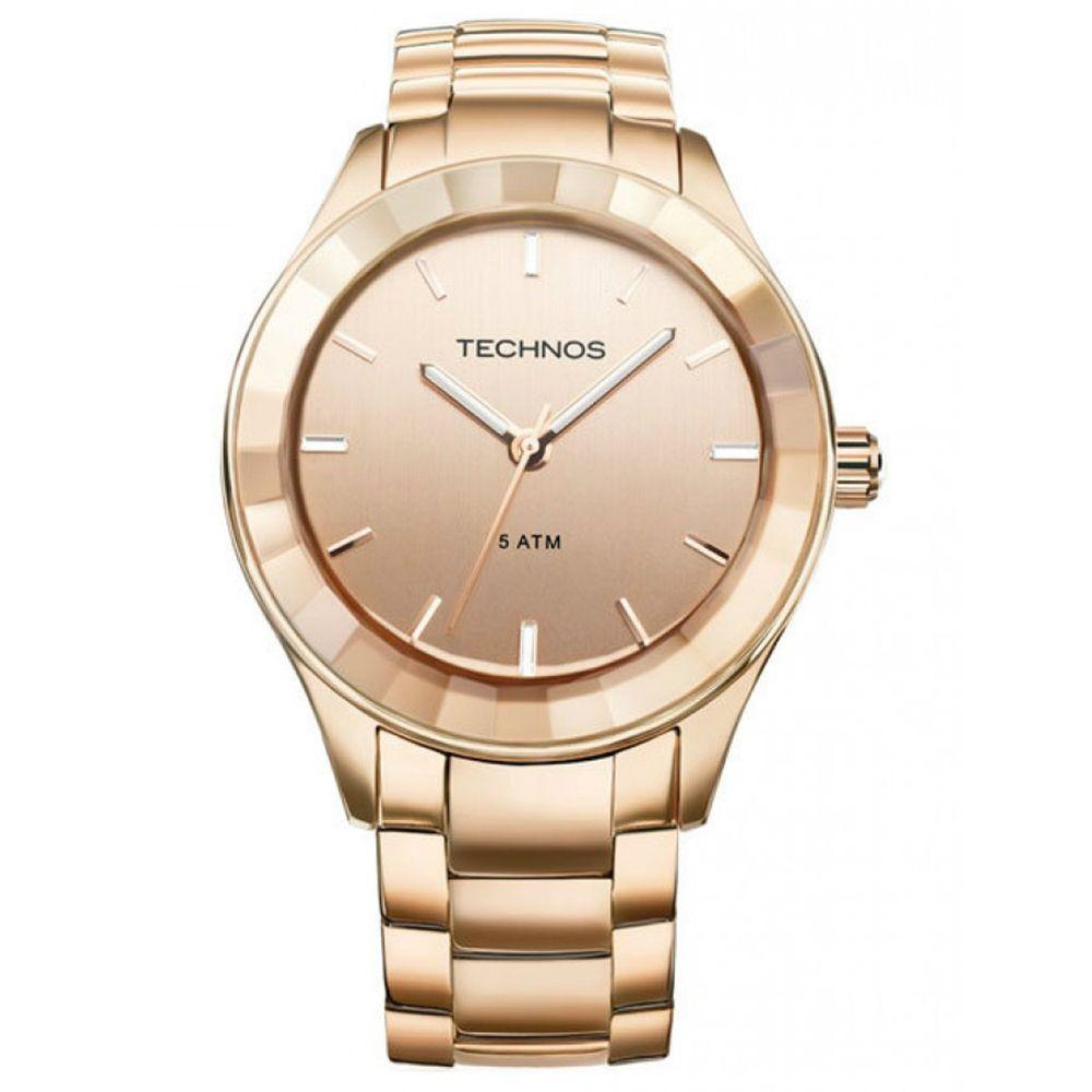 0224d2b59f33b Relógio Technos Feminino Analógico Rosé 2035LNH 4T - fluiartejoias