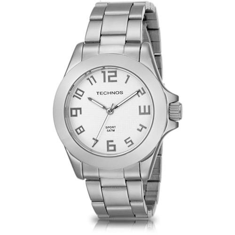 Relógio Technos Masculino Prateado Classic Steel 2035VY 1K - fluiartejoias 15798621e2