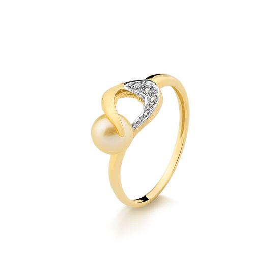 Anel-em-Ouro-Amarelo-com-20-Pts-de-Diamantes-e-Perola-Cultivada.