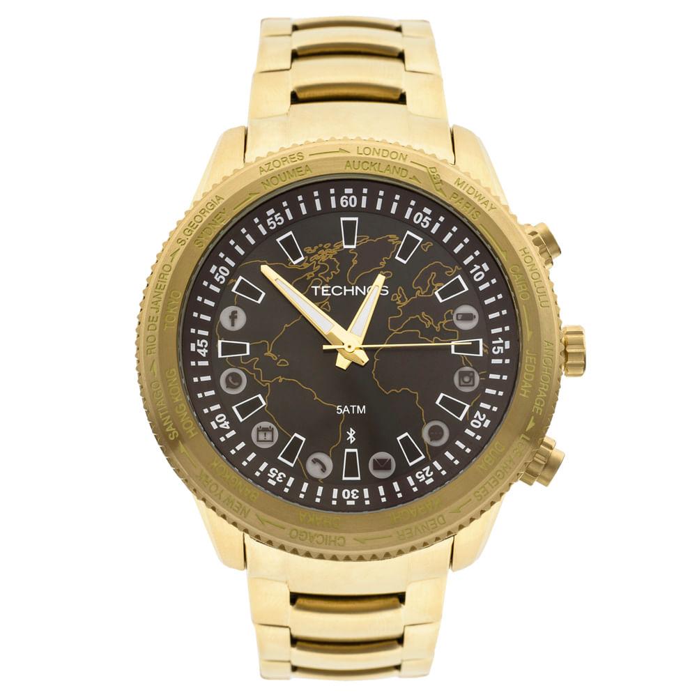 407983f3c14 Relógio Technos Masculino Dourado Connect 753AC 4M. Cód  753AC 4M.  753AC4M 1-fluiarte-joias