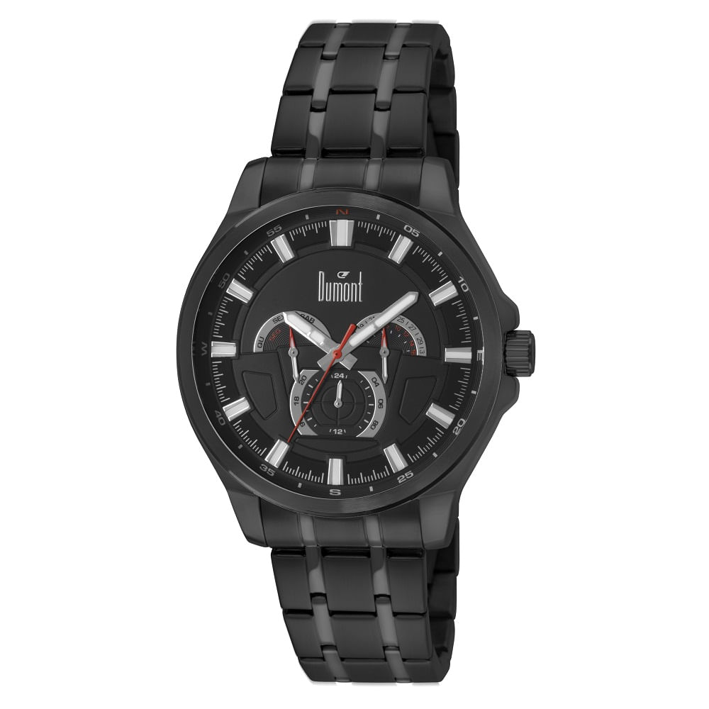 3008673467e Relógio Dumont Masculino Preto Garbo DU6P29ABQ 3P. Cód  DU6P29ABQ 3P.  DU6P29ABQ3P-fluiarte-joias