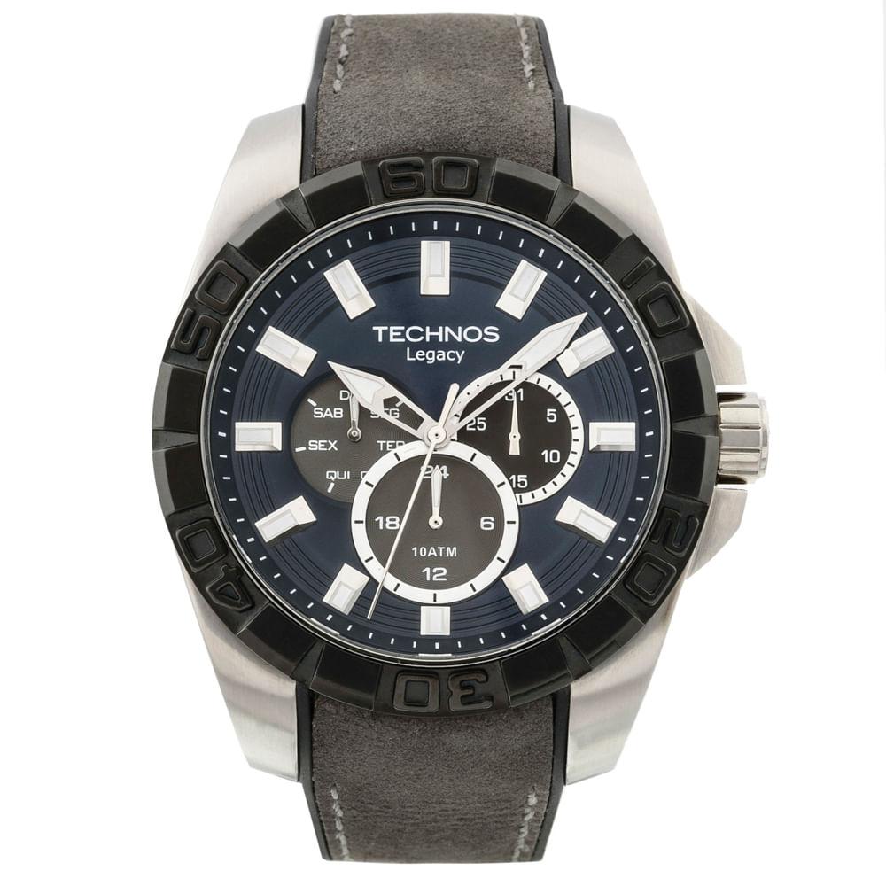 d9adccf836c Relógio Masculino Prata Technos Legacy 6P29AIM 8A - fluiartejoias