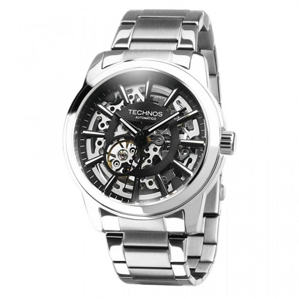 Relógio Technos Masculino Classic Automático MW6166 1C - fluiartejoias b12aed342c