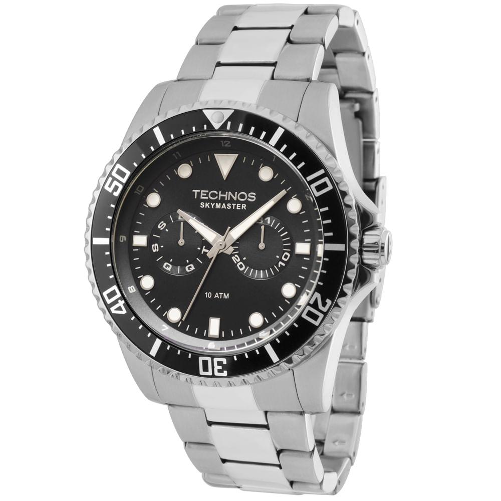 7b8eefd83a8bd Relógio Technos Masculino Skymaster Analógico 6P25BG 1P - fluiartejoias