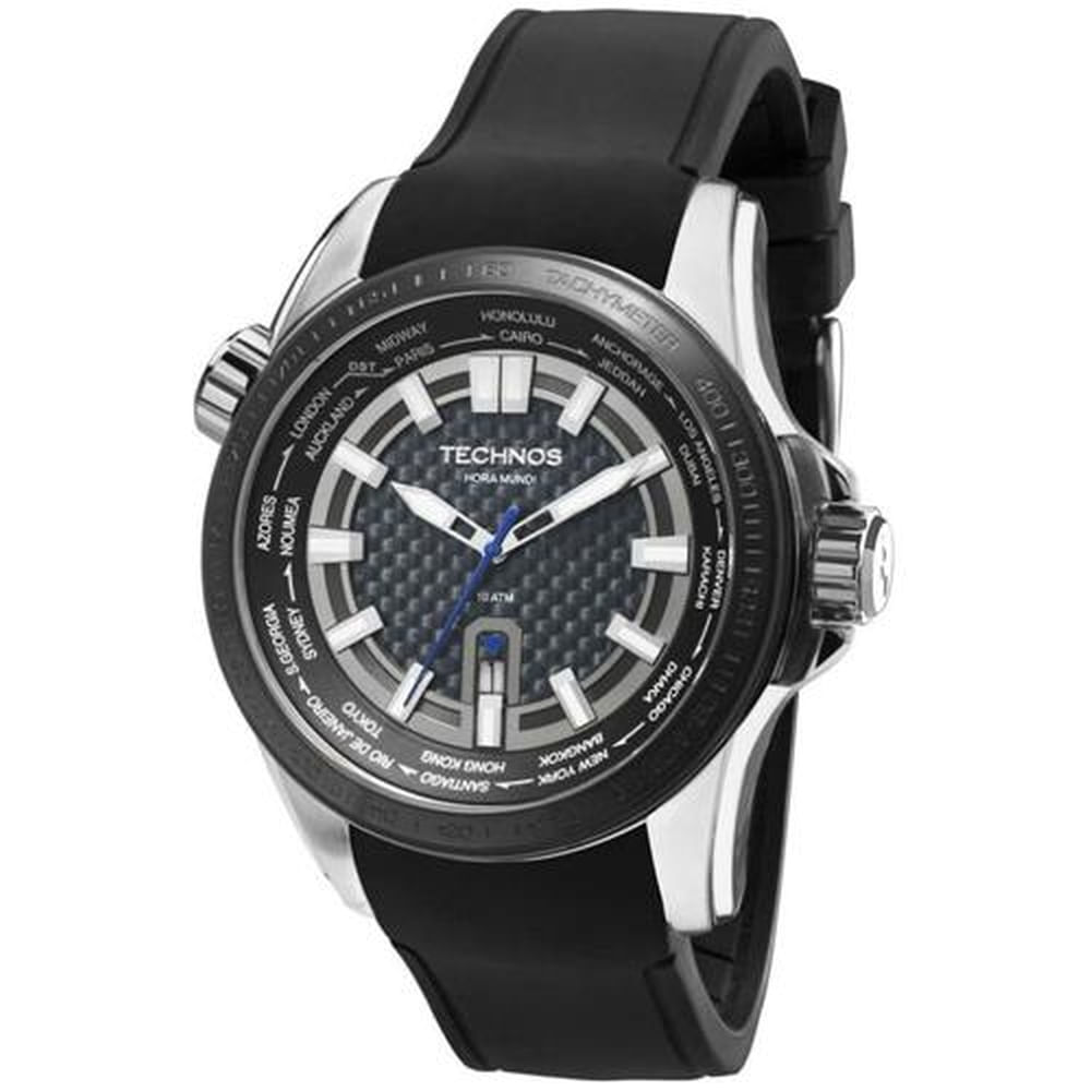 Relógio Technos Masculino Performance TS Carbon 2115KNT 8K. Cód   2115KNT 8K. 2115Knt-8K-fluiarte-joias 6b0e047e54