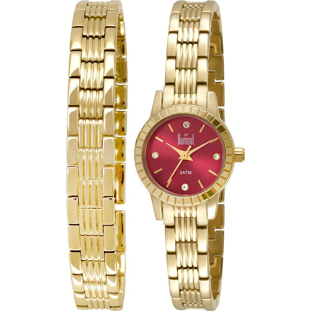 e6dabdd6b28 Relógio Dumont Feminino Troca Pulseiras DU2035LNR 4T - fluiartejoias