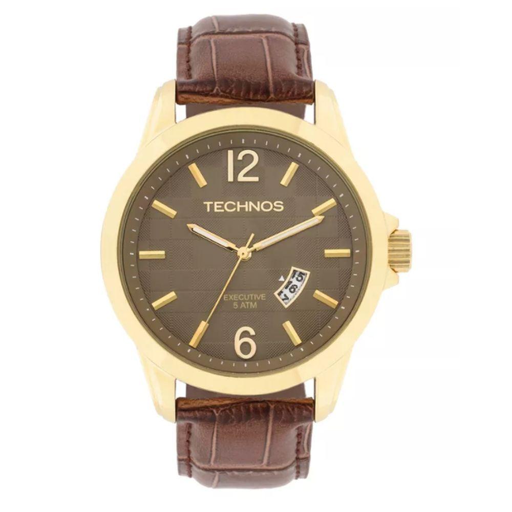 70065cef97e47 Relógio Technos Masculino Analógico Executive 2115KRR 2M - fluiartejoias