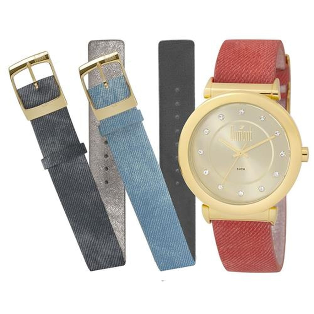 3b7812b0a76 Relógio Dumont VIP Dourado DU2036LTQ 2D - fluiartejoias
