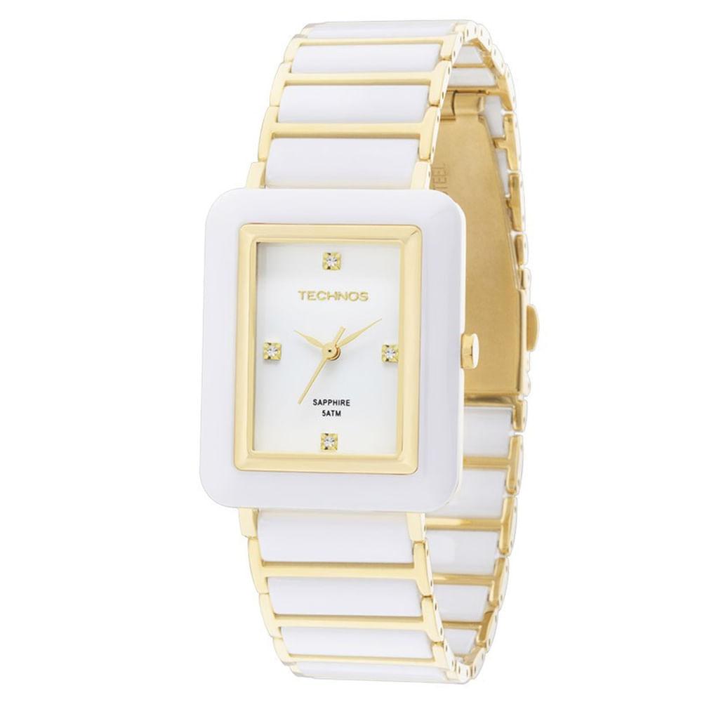 Relógio Technos Feminino Elegance Ceramic Sapphire 2036LNF 4B. Cód   2036LNF 4B. 2036LNF-4B-fluiarte-joias 67846be0ba