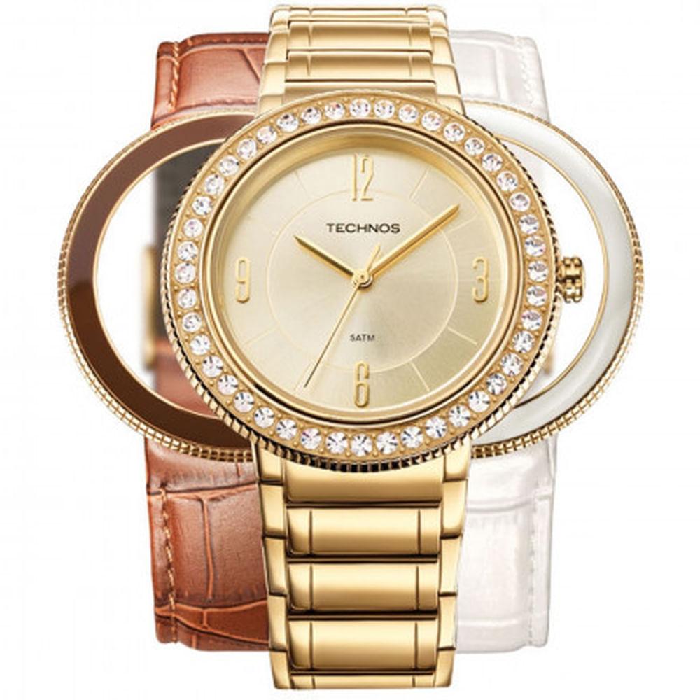 54db90851a5ff Relógio Technos Feminino Elegance Swarovski 2035LLT 4X - fluiartejoias