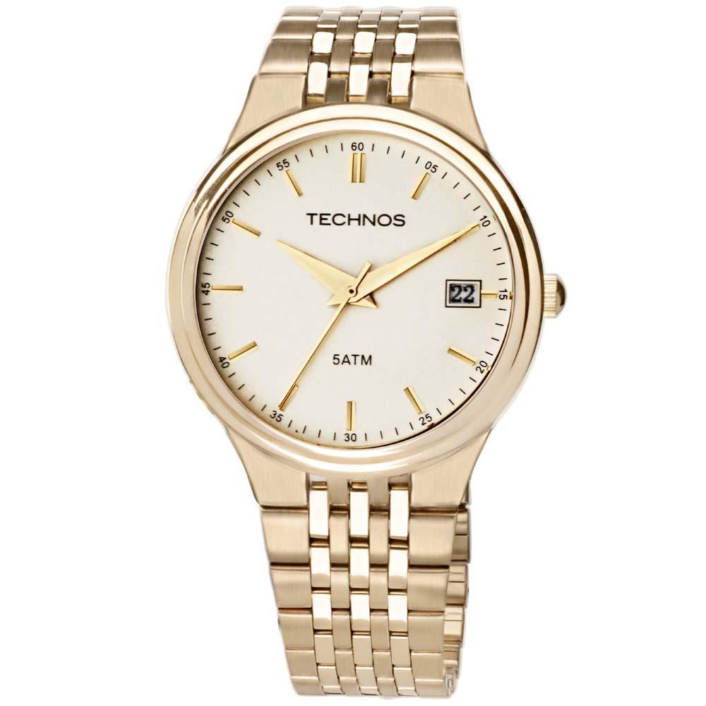 371d1a16f0851 Relógio Technos Steel Masculino Analógico 2115GR 4X - fluiartejoias