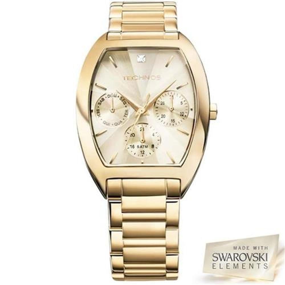 Relógio Technos Feminino Elegance Crystal 6P29AGF 4X - fluiartejoias 49afa1d883
