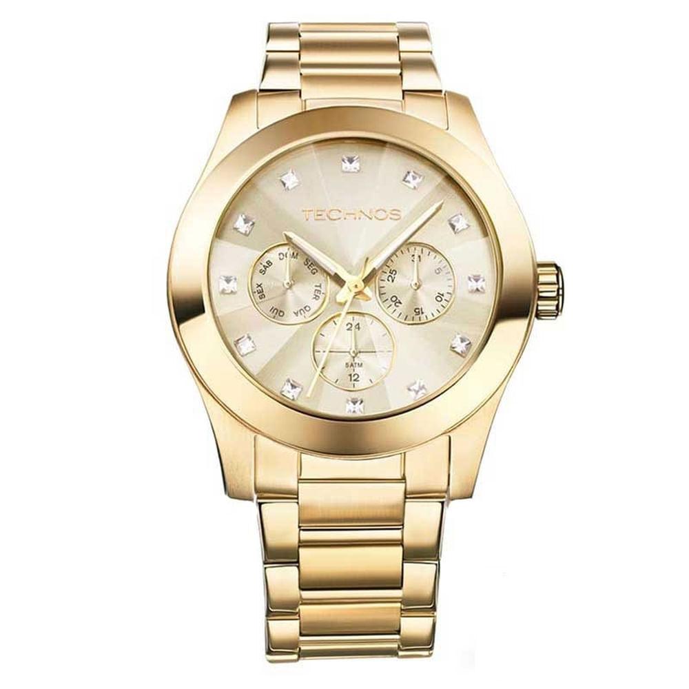70214b7ce5e Relógio Technos Feminino Elegance Swarovski 6P29AGD 4X. Cód  6P29AGD 4X.  6p29adg-4x-fluiarte-joias