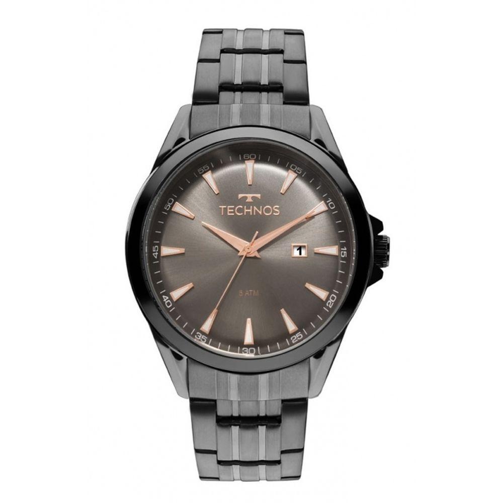 Relógio Technos Masculino Fumê Classic Executive 2115LAT 4C - fluiartejoias 9d5d82d66b
