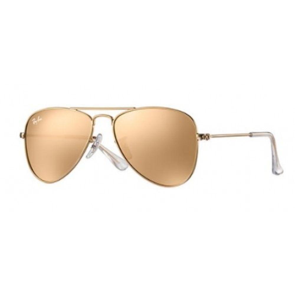 ecc52184deaae Óculos de Sol Ray-Ban Aviador Infantil Junior RB9506S 249 2Y50 ...